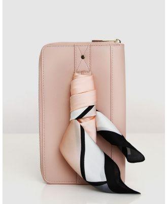Belle & Bloom - Wilona Leather Organiser - Wallets (Pink) Wilona Leather Organiser