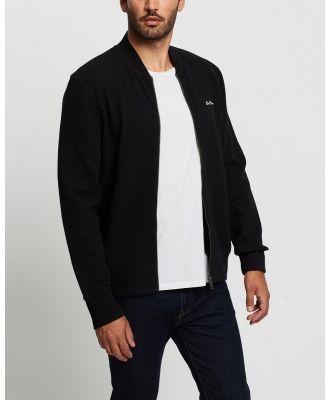 Ben Sherman - Fabric Interest Zip Through Bomber - Coats & Jackets (Black) Fabric Interest Zip-Through Bomber