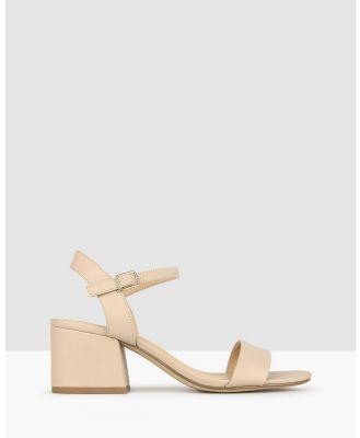 Betts - Camilla Block Heel Sandals - Sandals (Nude) Camilla Block Heel Sandals