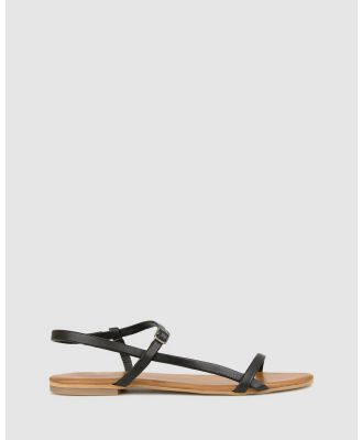 Betts - Kora Leather Flats - Casual Shoes (Black) Kora Leather Flats