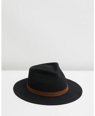 Billy Bones Club - Boss Man Fedora - Hats (Black) Boss Man Fedora