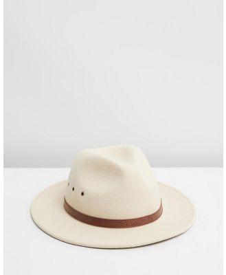 Billy Bones Club - C.R.E.A.M Fedora - Hats (Cream) C.R.E.A.M Fedora