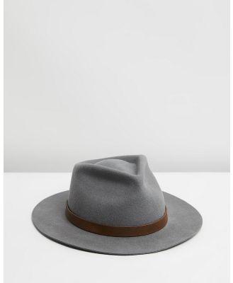 Billy Bones Club - The Alpha Grey Fedora - Hats (Grey) The Alpha Grey Fedora