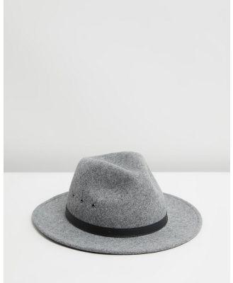 Billy Bones Club - The Shadow Grey Fedora - Hats (Grey) The Shadow Grey Fedora