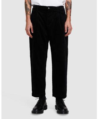 Black Noise White Rain - Cross Cord Pants - Pants (BLACK) Cross Cord Pants
