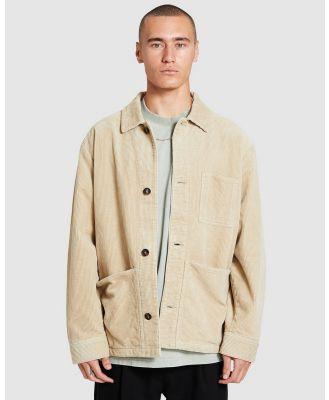 Black Noise White Rain - Lennox Cord Jacket - Coats & Jackets (NATURAL) Lennox Cord Jacket