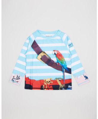 Bluesalt Beachwear - Pirate Rash Top - Swimwear (Pirate) Pirate Rash Top