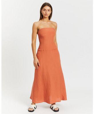 BONDI BORN - Saint Raphael Dress - Dresses (Tomato) Saint Raphael Dress