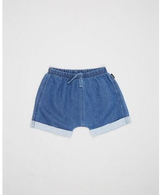 Bonds Baby - Terry Denim Shorts   Babies - Denim (Mid Blue Chambray) Terry Denim Shorts - Babies
