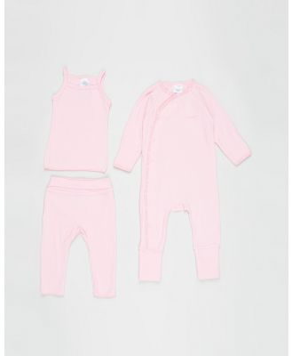 Bonds Baby - The Essentials Pack   Babies - Longsleeve Rompers (Fairy Floss) The Essentials Pack - Babies