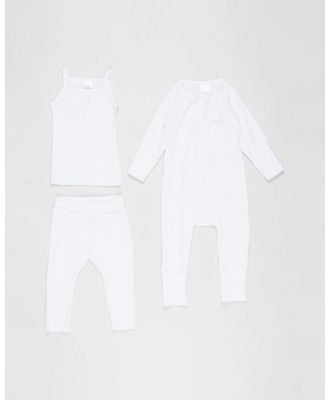 Bonds Baby - The Essentials Pack   Babies - Longsleeve Rompers (White) The Essentials Pack - Babies