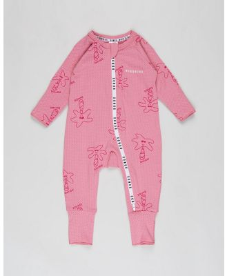 Bonds Baby - Wondercool Eyelet Zip Wondersuit   Babies - Longsleeve Rompers (Rose Blush) Wondercool Eyelet Zip Wondersuit - Babies