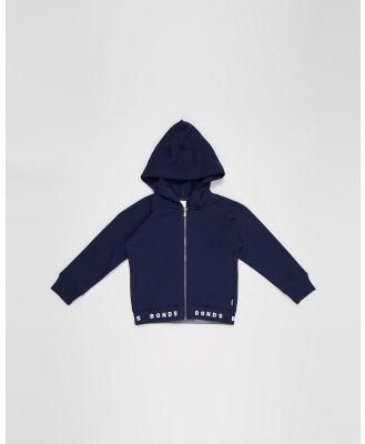 Bonds Kids - Logo Fleece Hoodie   Kids - Coats & Jackets (Navy) Logo Fleece Hoodie - Kids