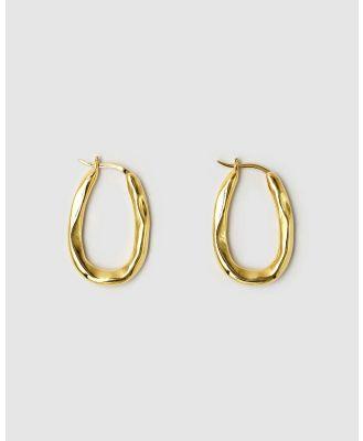 Brie Leon - Organica Bent Hoop Earrings - Jewellery (Gold) Organica Bent Hoop Earrings