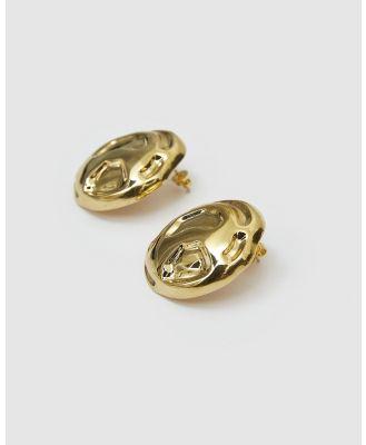 Brie Leon - Shield Studs - Jewellery (Gold) Shield Studs