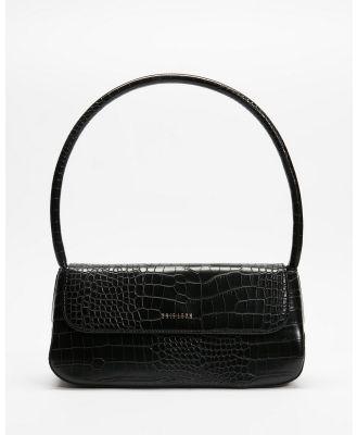 Brie Leon - The Camille - Handbags (Matte Black Croc) The Camille
