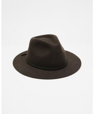 Brixton - Wesley Packable Fedora - Hats (Washed Black) Wesley Packable Fedora