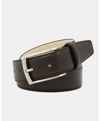 Buckle - Casablanca Leather Belt - Belts (Brown) Casablanca Leather Belt