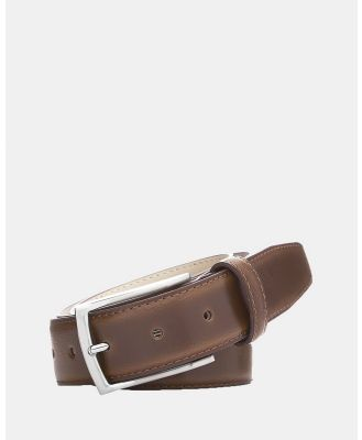 Buckle - Casablanca Leather Belt - Belts (Tan) Casablanca Leather Belt