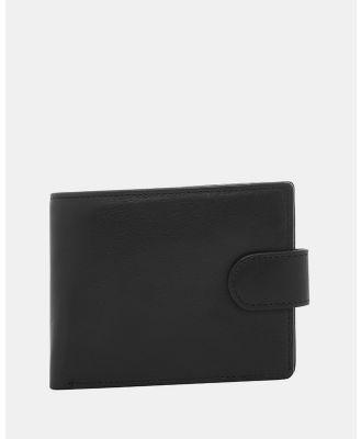 Buckle - Shawn RFID Leather Wallet - Wallets (Black) Shawn RFID Leather Wallet