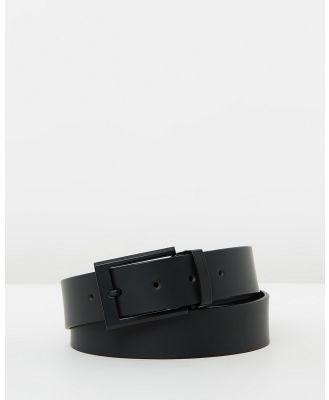 Buckle - Sierra Leather Belt - Belts (Black) Sierra Leather Belt