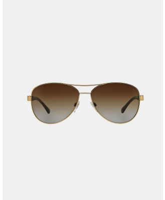 Burberry - Burberry Heritage BE3080 - Sunglasses (Light Gold & Polarised Brown Gradient) Burberry Heritage BE3080