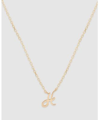 By Charlotte - Love Letter 'H' Necklace - Jewellery (Gold) Love Letter 'H' Necklace