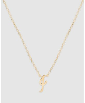 By Charlotte - Love Letter 'I' Necklace - Jewellery (Gold) Love Letter 'I' Necklace