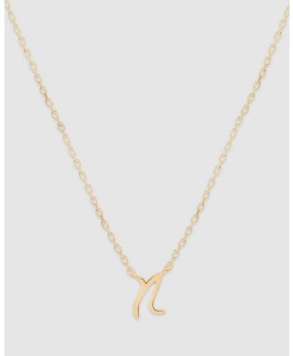 By Charlotte - Love Letter 'N' Necklace - Jewellery (Gold) Love Letter 'N' Necklace