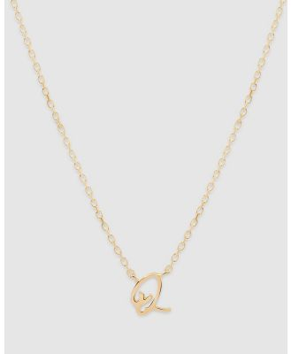 By Charlotte - Love Letter 'Q' Necklace - Jewellery (Gold) Love Letter 'Q' Necklace