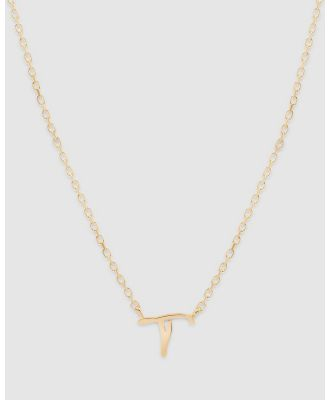 By Charlotte - Love Letter 'T' Necklace - Jewellery (Gold) Love Letter 'T' Necklace