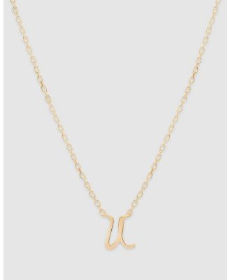 By Charlotte - Love Letter 'U' Necklace - Jewellery (Gold) Love Letter 'U' Necklace