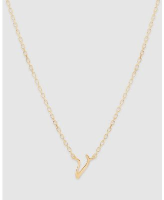 By Charlotte - Love Letter 'V' Necklace - Jewellery (Gold) Love Letter 'V' Necklace