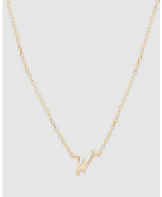 By Charlotte - Love Letter 'W' Necklace - Jewellery (Gold) Love Letter 'W' Necklace