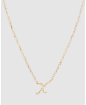 By Charlotte - Love Letter 'X' Necklace - Jewellery (Gold) Love Letter 'X' Necklace
