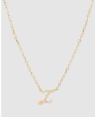 By Charlotte - Love Letter 'Z' Necklace - Jewellery (Gold) Love Letter 'Z' Necklace