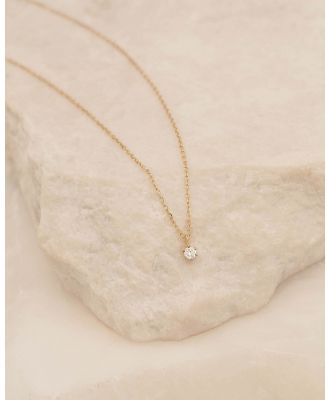 By Charlotte - Sweet Droplet Diamond Necklace - Jewellery (Gold) Sweet Droplet Diamond Necklace