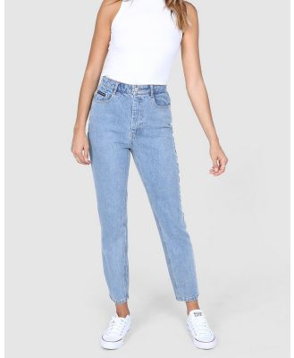 BY.DYLN - Harlow Mom Jeans - Mom Jeans (Blue) Harlow Mom Jeans