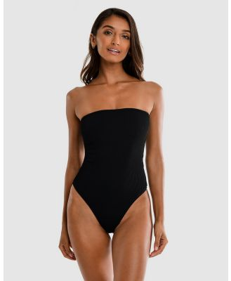 Cali Rae - Brazil Ribbed Swimsuit - One-Piece / Swimsuit (Black) Brazil Ribbed Swimsuit