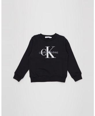 Calvin Klein Jeans - Monogram Logo Sweatshirt   Kids - Sweats (CK Black) Monogram Logo Sweatshirt - Kids