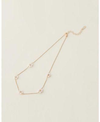 Cara O Sello - Daisy Pearl Love Necklace - Jewellery (Gold) Daisy Pearl Love Necklace