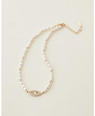 Cara O Sello - Evil Eye Pearl Choker - Jewellery (Pearl) Evil Eye Pearl Choker