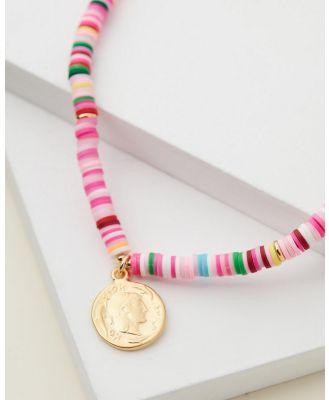 Cara O Sello - Summer Glam Necklace - Jewellery (Hot Pink) Summer Glam Necklace