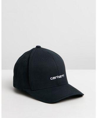 Carhartt - Script Cap - Headwear (Black & White) Script Cap