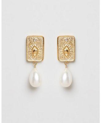 Carly Paiker - Deity Baroque Pearl Earrings - Jewellery (Gold) Deity Baroque Pearl Earrings