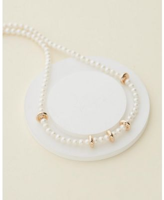 Carly Paiker - Valtos Pearl Necklace - Jewellery (Pearl & Gold) Valtos Pearl Necklace