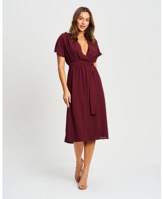 CHANCERY - Charles Midi Dress - Dresses (Plum) Charles Midi Dress