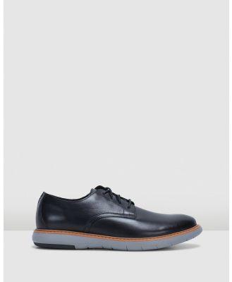Clarks - Draper Lace - Casual Shoes (Black Leather/Grey Sole) Draper Lace