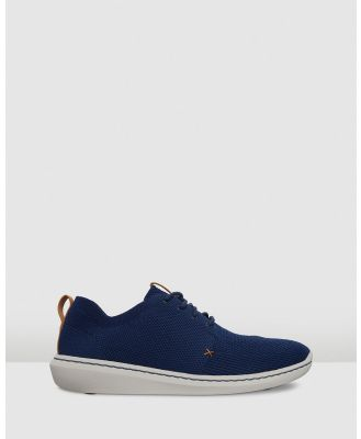 Clarks - Step Urban Mix - Casual Shoes (Navy Textile Knit 6 A Pack Swh) Step Urban Mix
