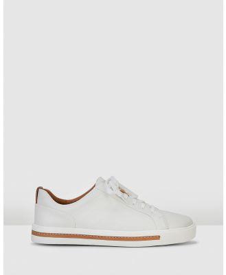 Clarks - Un Maui Lace - Sneakers (White Leather) Un Maui Lace
